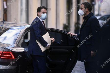 Italian Prime Minister Giuseppe Conte departs to Quirinale, Rome
