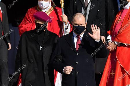 Editorial image of Ceremony Of The Sainte-Devote, Monaco - 27 Jan 2021
