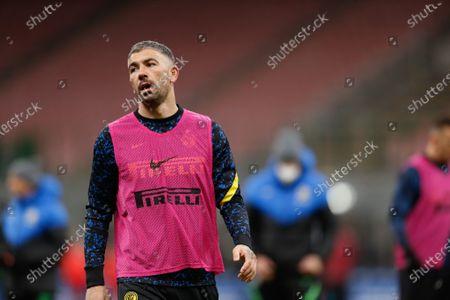 Aleksandar Kolarov (FC Internazionale) warming up before the match starts