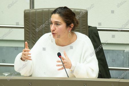 Flemish Minister of Environment, Energy, Tourism and Justice Zuhal Demir pictured during a plenary session of the Flemish Parliament in Brussels, Wednesday 27 January 2021.