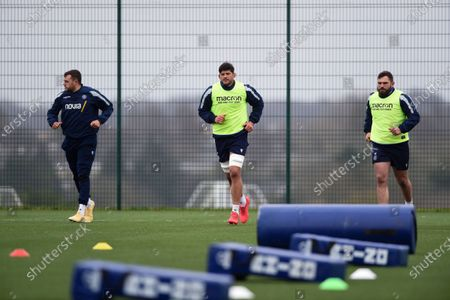 Zach Mercer, Mike Williams and Jamie Bhatti in action