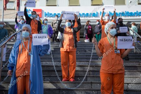 Hospital staff protest, Madrid
