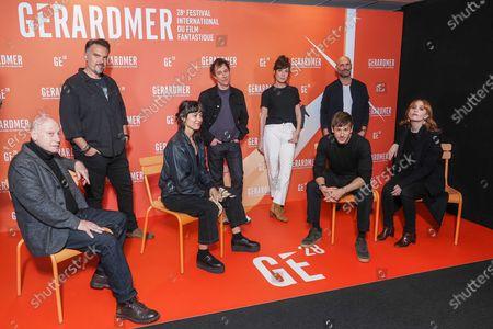 Stock Photo of (L-R) Pascal Bonitzer, Maxime Chattam, Vimala Pons, Bertrand Bonello, Nora Hamzawi, Gaspard Ulliel, Alexandre Pachulski and Lolita Chammah