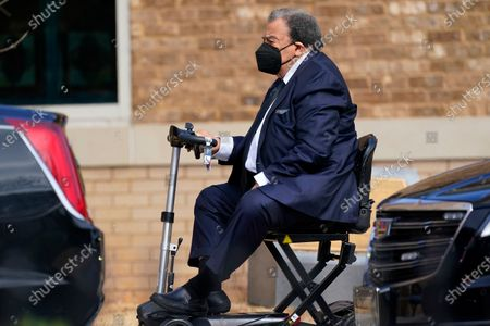 Former diplomat and politician Andrew Young arrives to the funeral at Friendship Baptist Church for Baseball Hall of Famer and Braves legend Hank Aaron, in Atlanta