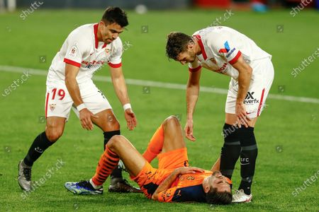 Editorial picture of Sevilla FC v Valencia CF, Copa del Rey, round of 16. Football, Sanchez Pizjuan Stadium, Sevilla, Spain - 27 JAN 2021