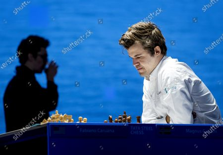 Magnus Carlsen during the Tata Steel Chess Tournament in village house De Moriaan in Wijk aan Zee, the Netherlands on January 27, 2021. World champion Carlsen plays against the number two in the world, Fabiano Caruana.