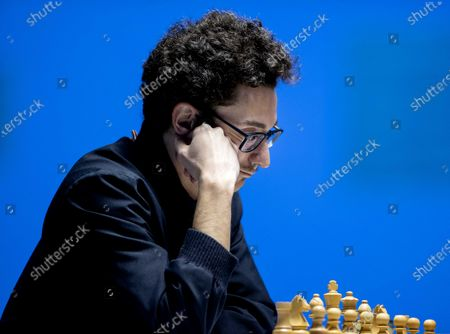 Fabiano Caruana during the Tata Steel Chess Tournament in village house De Moriaan in Wijk aan Zee, the Netherlands on January 27, 2021. Caruana is the number two in the world and plays against world champion Magnus Carlsen.