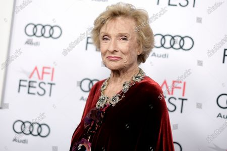 """Cloris Leachman attends the premiere of """"The Comedian"""" during the 2016 AFI Fest, in Los Angeles. Leachman stars in the faith-based film """"I Can Only Imagine"""" which has made over $22 million in just six days of release on a $7 million budget. Leachman, a character actor whose depth of talent brought her an Oscar for the """"The Last Picture Show"""" and Emmys for her comedic work in """"The Mary Tyler Moore Show"""" and other TV series, has died. She was 94"""