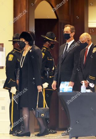 Family and friends arrive at Baseball Hall Of Fame player, Hank Aaron's Funeral Service at Friendship Baptist Church