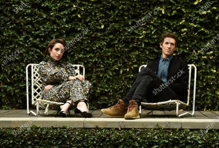 """Zoe Lister-Jones, left, and her husband Daryl Wein, the co-directors, co-writers and co-producers of """"How It Ends,"""" pose together for a portrait to promote the film for the Sundance Film Festival, in Los Angeles. Lister-Jones is also a cast member in the film"""