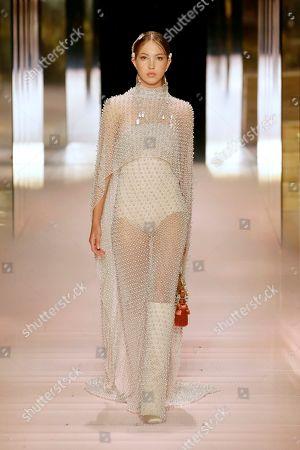 Editorial photo of Fendi show, Runway, Spring Summer 2021, Haute Couture Fashion Week, Paris, France - 27 Jan 2021