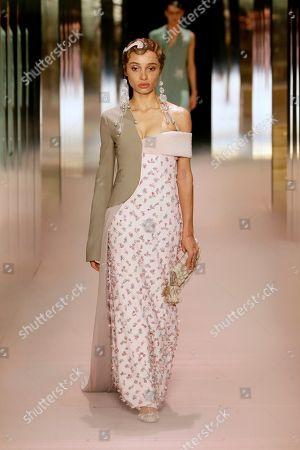 Stock Photo of Adwoa Aboah on the catwalk