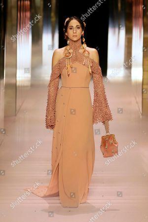 Delfina Delettrez Fendi on the catwalk