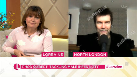 Lorraine Kelly and Rhod Gilbert