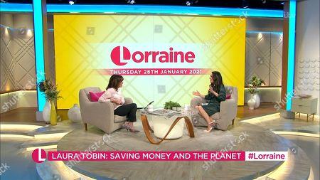 Lorraine Kelly and Laura Tobin