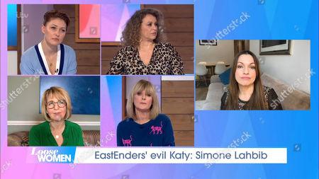 Emma Willis, Nadia Sawalha, Kaye Adams, Jane Moore and Simone Lahbib