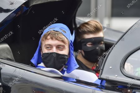 Editorial photo of Co-hosts surprise Roman Kemp with a Batmobile outside the Capital Radio studios in London, UK - 28 Jan 2021