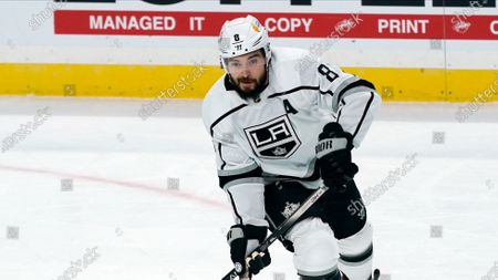 Los Angeles Kings' Drew Doughty (8) plays against the Minnesota Wild in an NHL hockey game, in St. Paul, Minn