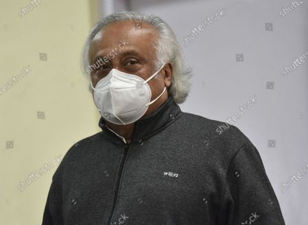 Congress leader Jairam Ramesh during Former finance minister and Rajya Sabha MP P Chidambaram, Special Congress Party briefing on the Mismanagement of Economy by the center Government and Congress Party expectations from the Budget, at Congress HQ, Akbar Road  on January 28, 2021 in New Delhi, India.