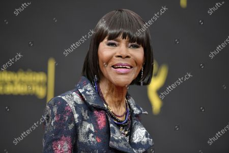 """Cicely Tyson arrives at night two of the Creative Arts Emmy Awards, in Los Angeles. Tyson, the pioneering Black actress who gained an Oscar nomination for her role as the sharecropper's wife in """"Sounder,"""" a Tony Award in 2013 at age 88 and touched TV viewers' hearts in """"The Autobiography of Miss Jane Pittman,"""" has died. She was 96. Tyson's death was announced by her family, via her manager Larry Thompson, who did not immediately provide additional details"""
