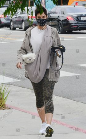 Editorial photo of Exclusive - Nicole Murphy out and about, Los Angeles, California, USA - 28 Jan 2021