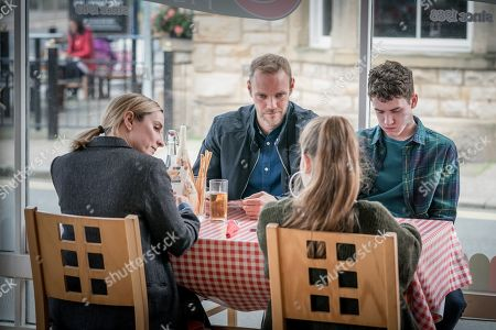 Stock Picture of Morven Christie as DC Lisa Armstrong, Joe Absolom as Andy Warren, Imogen King as Abbie Armstrong, Art Parkinson as Rob Armstrong