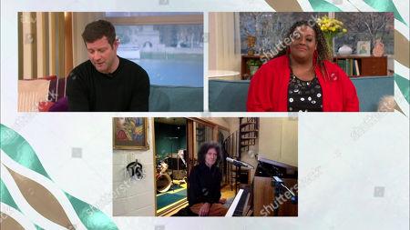 Stock Image of Dermot O'Leary, Alison Hammond and Gilbert O'Sullivan