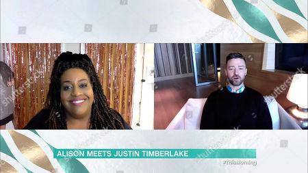 Stock Photo of Alison Hammond and Justin Timberlake