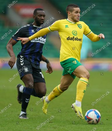 Editorial photo of Norwich City v Middlesbrough, EFL Sky Bet Championship, Football, Carrow Road, Norwich, UK - 30 Jan 2021