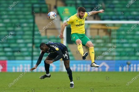 Stock Photo of Grant Hanley of Norwich City (5) Yannick Bolasie of Middlesbrough (14)