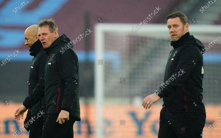 Stock Image of West Ham coach Paul Nevin, Stuart Pearce and Kevin Nolan