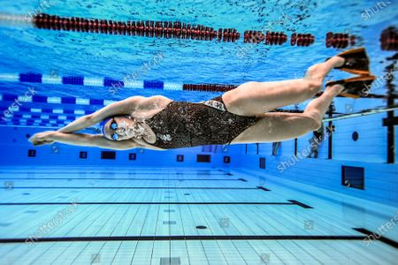 Swedish swimmer and multiple World Record Holder Sarah Sjostrom photographed while training at Eriksdalsbadet in Stockholm, Sweden