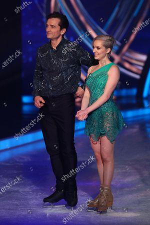 Graham Bell and Karina Manta in the skate-off