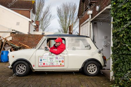 Editorial picture of 'The Italian Job' road trip event, Hove, East Sussex - 28 Jan 2021