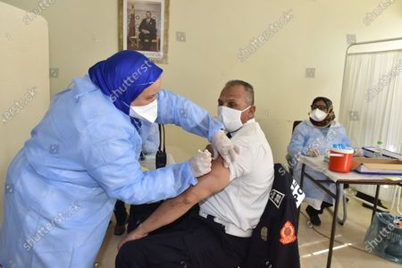 Editorial image of Covid-10 vaccinations begin in Morocco, Sale - 29 Jan 2021