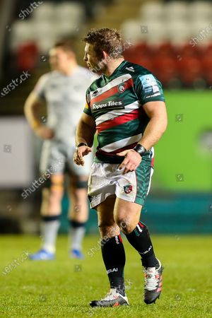 Tom Youngs, captain of Leicester Tigers, making his 200th appearance for the club