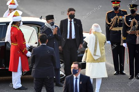 President Ram Nath Kovind along with Prime Minister Narendra Modi during the Beating Retreat Ceremony, at Vijay Chowk on January 29, 2021 in New Delhi, India. The Beating Retreat ceremony which marks the culmination of the four-day long Republic Day celebrations, took place on Friday at the historic Vijay Chowk with as many as 26 performances by the bands by the Indian Army, Indian Navy, Indian Air Force and Central Armed Police Forces (CAPF).