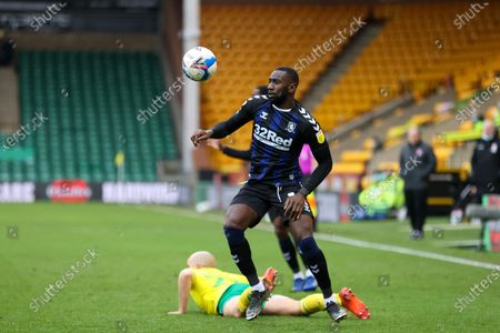 Yannick Bolasie (14) of Middlesbrough on the ball during the EFL Sky Bet Championship match between Norwich City and Middlesbrough at Carrow Road, Norwich