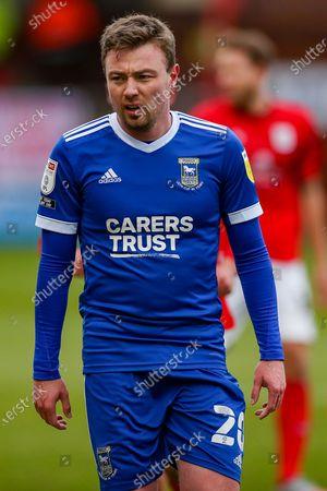Ipswich Town forward Freddie Sears (20) during the EFL Sky Bet League 1 match between Crewe Alexandra and Ipswich Town at Alexandra Stadium, Crewe