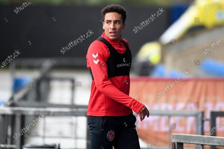 of Fleetwood Town forward James Hill (33) during the EFL Sky Bet League 1 match between Oxford United and Fleetwood Town at the Kassam Stadium, Oxford