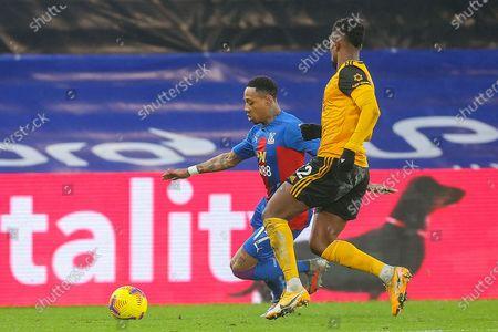 Crystal Palace defender Nathaniel Clyne (17) and Wolverhampton Wanderers defender Nélson Semedo (22) during the Premier League match between Crystal Palace and Wolverhampton Wanderers at Selhurst Park, London