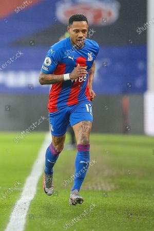 Crystal Palace defender Nathaniel Clyne (17) during the Premier League match between Crystal Palace and Wolverhampton Wanderers at Selhurst Park, London