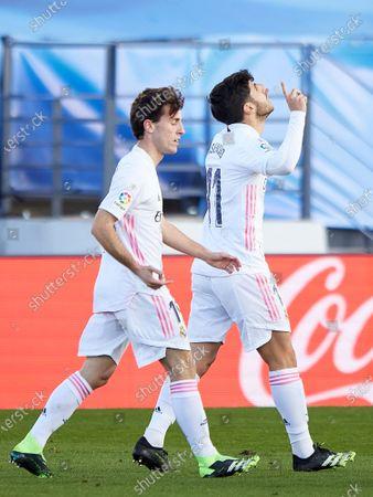 Marco Asensio of Real Madrid and Alvaro Odriozola of Real Madrid