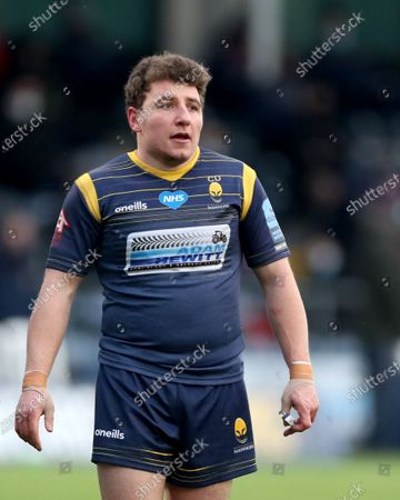 Editorial photo of Worcester Warriors v Exeter Chiefs, Rugby Union, Gallagher Premiership, Sixways Stadium, Worcester, UK - 30/01/2021