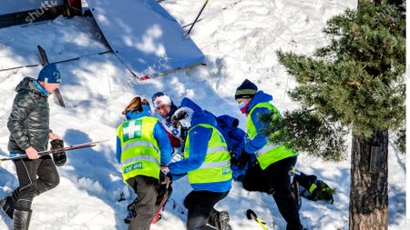 Andrew Young fell and broke a femur during the FIS Cross-country World Cup