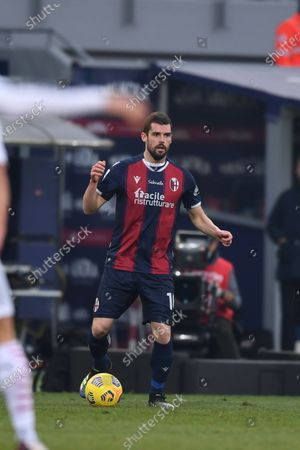 "Andrea Poli (Bologna)       during the Italian ""Serie A  match between Bologna 1-2 Milan  at  Renato Dall Ara Stadium  on January 30 , 2021 in Bologna, Italy."