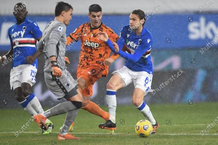 Omar Colley (Sampdoria), Emil Audero (Sampdoria), Alvaro Morata (Juventus), Albin Ekdal (Sampdoria)