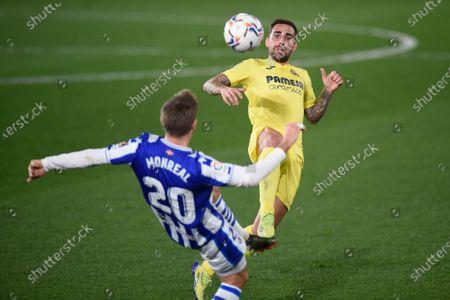 Paco Alcacer of Villarreal CF and Asier Illarramendi of Real Sociedad
