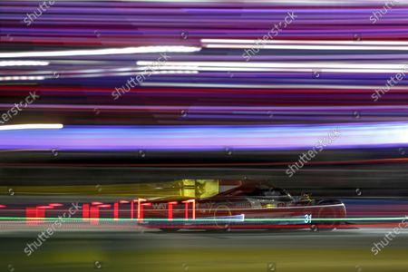 DAYTONA INTERNATIONAL SPEEDWAY, UNITED STATES OF AMERICA - JANUARY 30: #31 Whelen Engineering Racing Cadillac DPi, DPi: Chase Elliott, Mike Conway, Felipe Nasr, Pipo Derani during the Daytona 24 at Daytona International Speedway on January 30, 2021 in Daytona International Speedway, United States of America. (Photo by Jake Galstad / LAT Images)