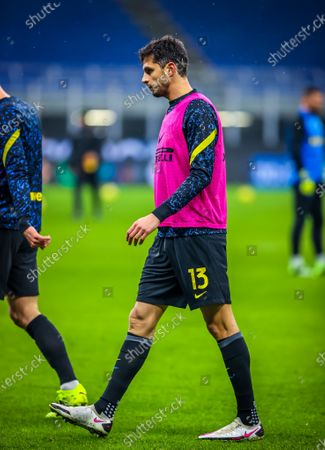 Andrea Ranocchia of FC Internazionale warms up